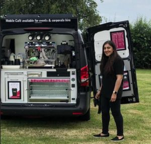 Really Awesome Coffee Solihull Meera serving customers home deliveries